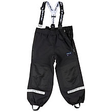 Buy Polarn O. Pyret Childrens' Waterproof Trousers, Black Online at johnlewis.com