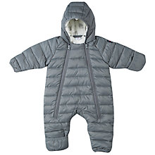 Buy Polarn O. Pyret Baby Quilt Pramsuit, Grey Online at johnlewis.com
