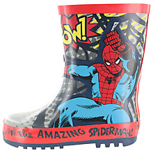 Buy Spider-Man Children's Wellington Boots, Grey/Red Online at johnlewis.com