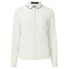 Buy Sugarhill Boutique Devra Scallop Collar Shirt, Cream Online at johnlewis.com
