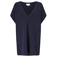 Buy Jigsaw Silk Bonded Edge Tunic, Ink Online at johnlewis.com