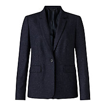 Buy Jigsaw Flecked Tailoring London Jacket, Navy Online at johnlewis.com