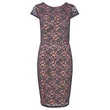Buy Sugarhill Boutique Della Shift Dress, Grey/Blush Online at johnlewis.com