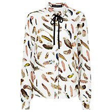 Buy Sugarhill Boutique Catrina Feather Print Shirt, Cream Online at johnlewis.com