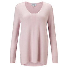 Buy Jigsaw Fern Slim Rib V-Neck Jumper Online at johnlewis.com