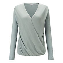 Buy Jigsaw Silk Overlay Crossover Top Online at johnlewis.com