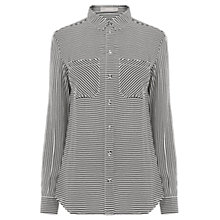 Buy Oasis Stripe Shirt, Black/White Online at johnlewis.com