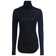 Buy French Connection Marian High Neck Top, Black Online at johnlewis.com