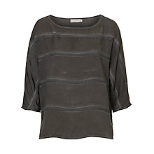Buy Betty & Co. 3/4 Sleeve Panelled Top, Anthracite Online at johnlewis.com