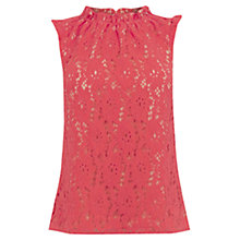 Buy Oasis Lace Pie Crust Shell Top, Coral Online at johnlewis.com