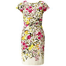 Buy Adrianna Papell Exposed Floral Dress, Ivory/Multi Online at johnlewis.com