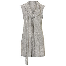 Buy Betty & Co. Textured Fine Knit Sleeveless Cardigan, Grey Melange Online at johnlewis.com