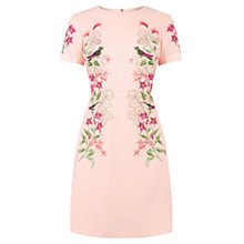 Buy Oasis Botanical Embroidered Shift Dress, Mid Neutral Online at johnlewis.com