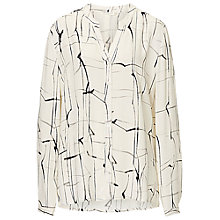 Buy Betty & Co. Printed Crepe Blouse, White/Black Online at johnlewis.com
