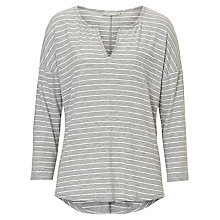 Buy Betty & Co. Striped Top, Grey/Cream Online at johnlewis.com