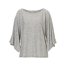 Buy Betty & Co. Textured Top, Grey Melange Online at johnlewis.com