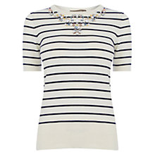 Buy Oasis Stripe Knit Top, Multi Online at johnlewis.com