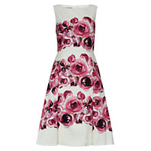 Buy Hobbs Fleur Dress, Ivory/Multi Online at johnlewis.com