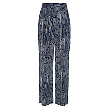 Buy Hobbs Harriete Trousers, Navy/Multi Online at johnlewis.com