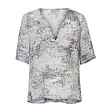 Buy Betty & Co. Printed Top, Silver/Grey Online at johnlewis.com