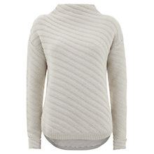 Buy Mint Velvet Stitch Cocoon Knit Jumper, Cream Online at johnlewis.com