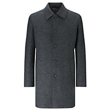 Buy Jigsaw Italian Jersey Raw Cut Coat, Charcoal Online at johnlewis.com