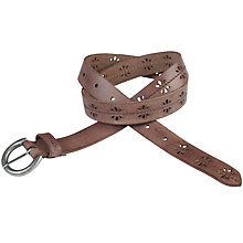 Buy Fat Face Ella Stitch Leather Belt Online at johnlewis.com