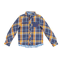 Buy Angel & Rocket Boys' Layered Check Shirt, Orange Online at johnlewis.com