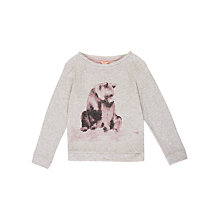 Buy Jigsaw Girls' Bear Print Jumper, Grey Online at johnlewis.com