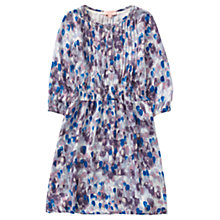 Buy Jigsaw Girls' Rain Print Dress, Purple/Blue Online at johnlewis.com