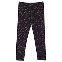 Buy Jigsaw Girls' Bear Print Leggings, Navy Online at johnlewis.com