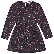 Buy Jigsaw Girls' Bear Print Jersey Dress, Navy Online at johnlewis.com