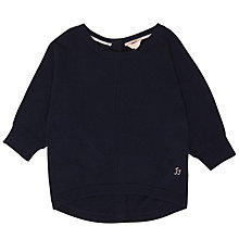 Buy Jigsaw Girls' Button Back Jumper, Navy Online at johnlewis.com