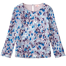 Buy Jigsaw Girls' Rain Print Jumper, Purple Online at johnlewis.com