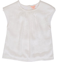 Buy Jigsaw Girls' Textured Front Short Sleeve Top, Ivory Online at johnlewis.com