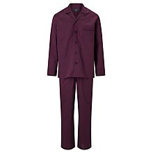 Buy John Lewis Paisley Dot Pyjamas, Burgundy Online at johnlewis.com