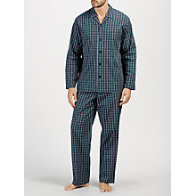 Buy John Lewis Milton Poplin Check Pyjamas, Navy Online at johnlewis.com
