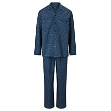 Buy John Lewis Paisley Print Cotton Pyjamas, Blue Online at johnlewis.com