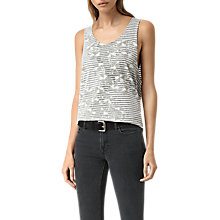 Buy AllSaints Farrow Noah Vest, Chalk White/Black Online at johnlewis.com