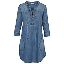 Buy Fat Face Charlotte Dress, Denim Online at johnlewis.com