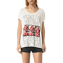 Buy AllSaints River Ole T-shirt, Chalk White Online at johnlewis.com