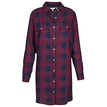 Buy Fat Face Tabitha Buffalo Longline Shirt, Elderberry Online at johnlewis.com