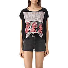 Buy AllSaints River Mist T-Shirt, Black Online at johnlewis.com