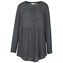 Buy Fat Face Evie Longline Top, Slate Grey Online at johnlewis.com