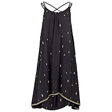 Buy Fat Face Becca Embroidered Dress, Phantom Online at johnlewis.com