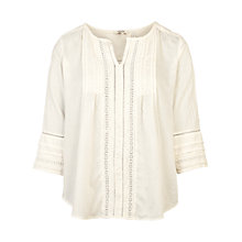 Buy Fat Face Victoria Pretty Popover Blouse, Ivory Online at johnlewis.com
