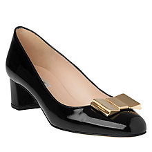 Buy L.K. Bennett Emelia Bow Block Heeled Court Shoes Online at johnlewis.com