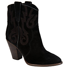 Buy Ash Joe Western Ankle Boots, Black Online at johnlewis.com