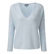 Buy Pure Collection Janelle Sempre Cashmere Sweater, Frost Blue Online at johnlewis.com