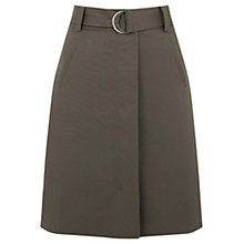 Buy Warehouse Compact A-Line Skirt, Khaki Online at johnlewis.com